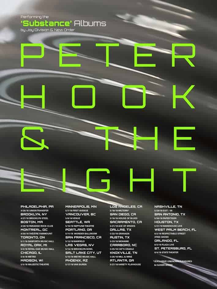 Peter Hook & the Light Tour