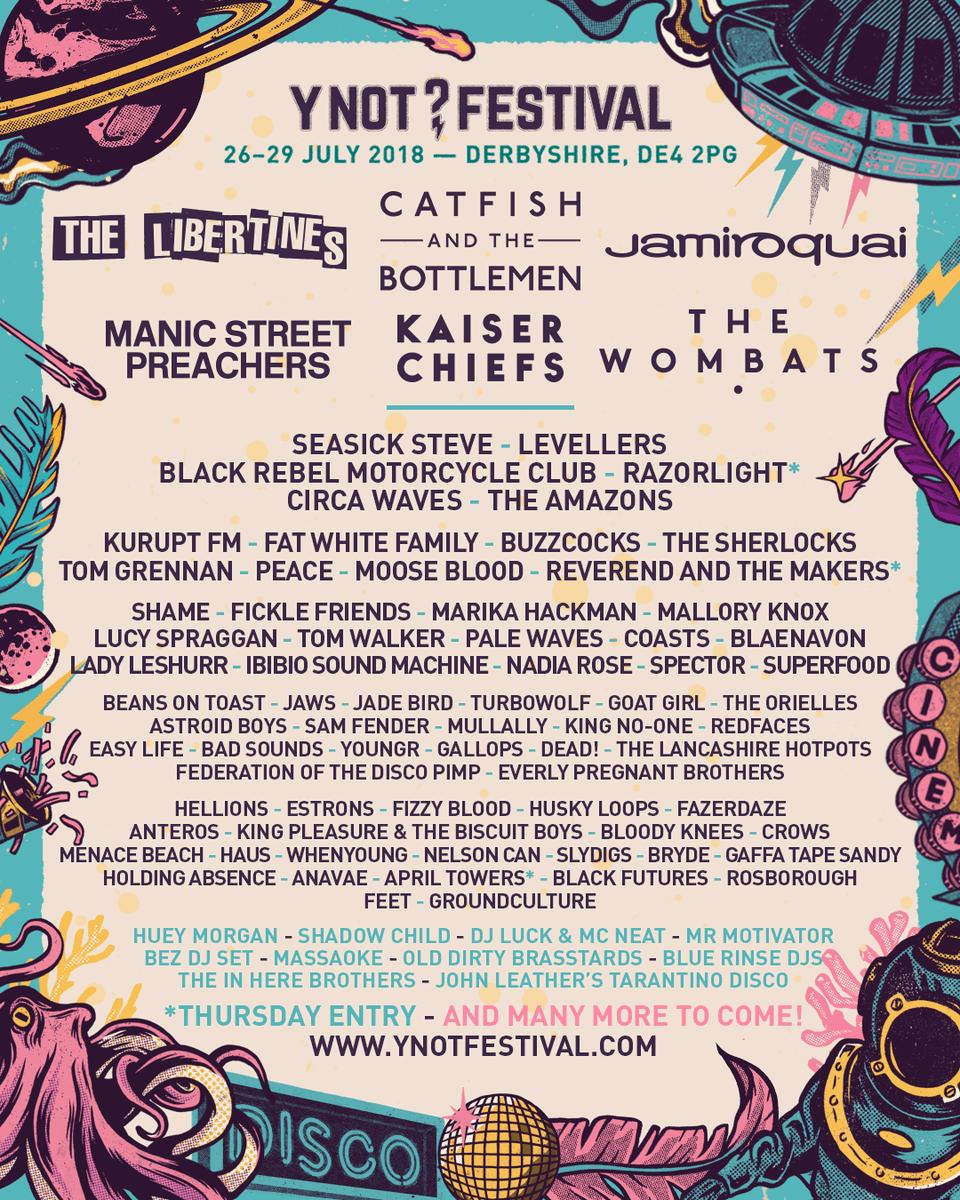 Y Not Festival in UK-July!